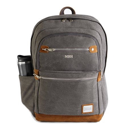 Personalized Redenvelope Canvas   Suede Travel Backpack