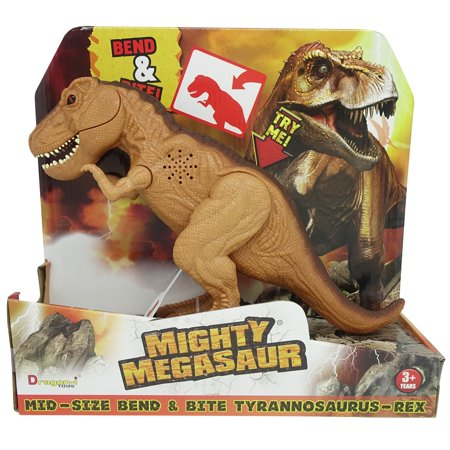 Mighty Megasaur Bend & Bite T-Rex, Brown