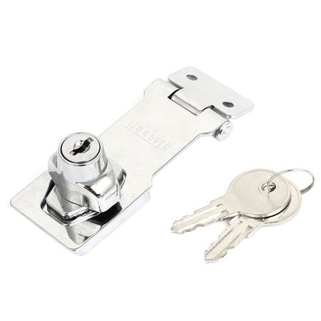 Unique Bargains Door Gate Shed Garage 80x32mm Locking Hasp Staple Padlock Secure Lock w Keys