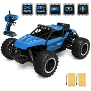 RC Car 1/16 2.4G 4WD 25km/h High-speed Remote Control Car Boat RC Stunt Car with Working Suspension, Spring Shock Absorber, Blue