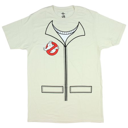 Ghostbusters T Shirt Men's Uniform Jumpsuit Logo Adult Graphic Movie Tee