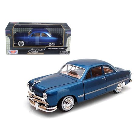1949 Plymouth Coupe - 1949 Ford Coupe Blue 1/24 Diecast Model Car by Motormax
