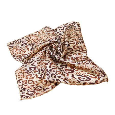 Premium Silk Feel Animal Print Square Satin Scarf