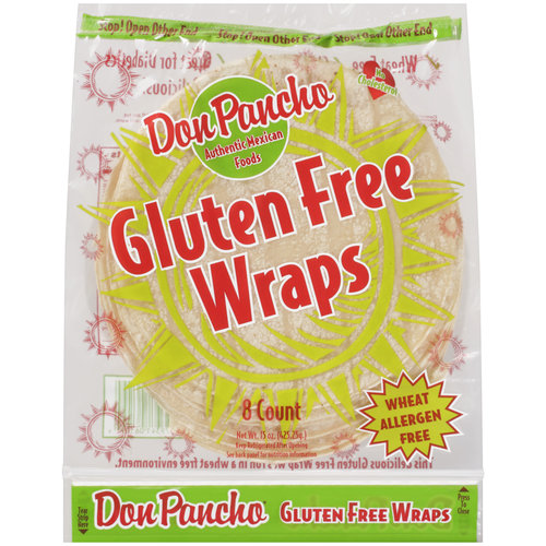 Don Pancho Authentic Mexican Food Gluten Free Wraps, 8ct
