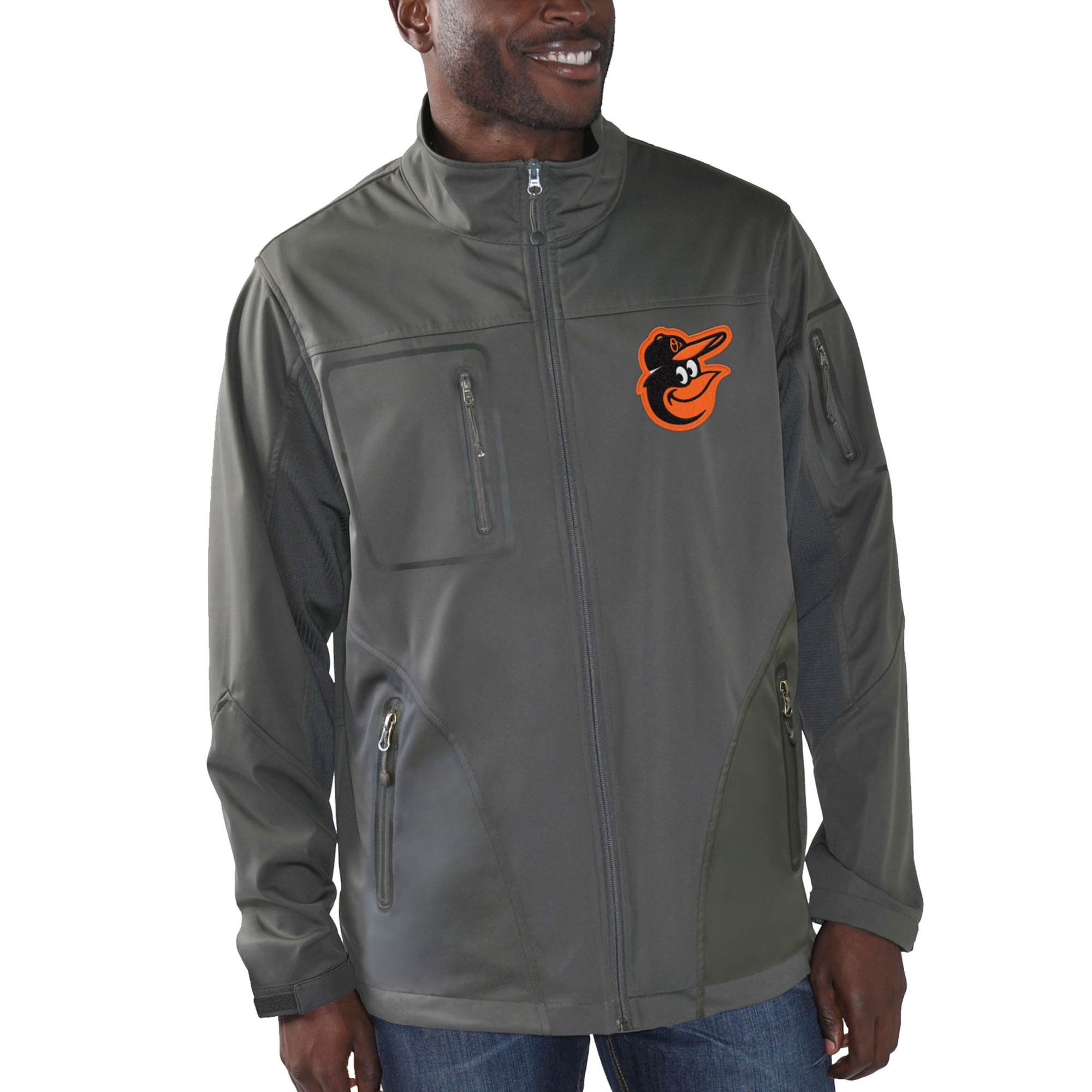 Baltimore Orioles G-III Sports by Carl Banks Scrimmage Full-Zip Jacket - Charcoal