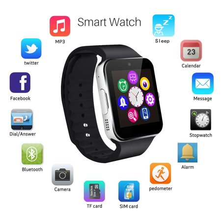 Latest 2018 GT08  Bluetooth Smart Watch Phone Wrist Watch for Android and iOS (Best Bw Watch Phones)