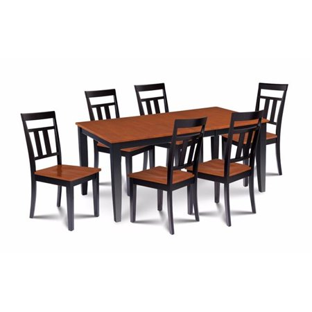M d furniture suwe7 blc w 7 piece dining room set table for B m dining room furniture