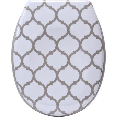 Evideco Escala Printed Duroplast Oval Toilet