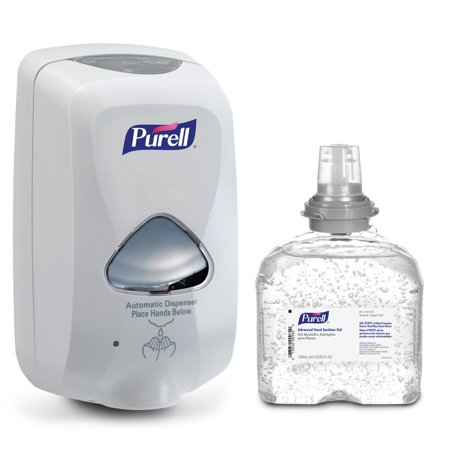 Purell Hand Sanitiser (PURELL Advanced Hand Sanitizer Gel TFX Starter Kit, 1- 1200mL Hand Sanitizer Refill + 1- PURELL TFX Grey Touch-Free Dispenser (5456-D1))