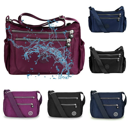 Vbiger Waterproof Shoulder Bag Fashionable Cross-body Bag Casual Bag Handbag for Women, Purple Black Across Body Bag
