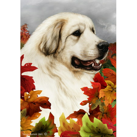 Great Pyrenees - Best of Breed Fall Leaves Garden