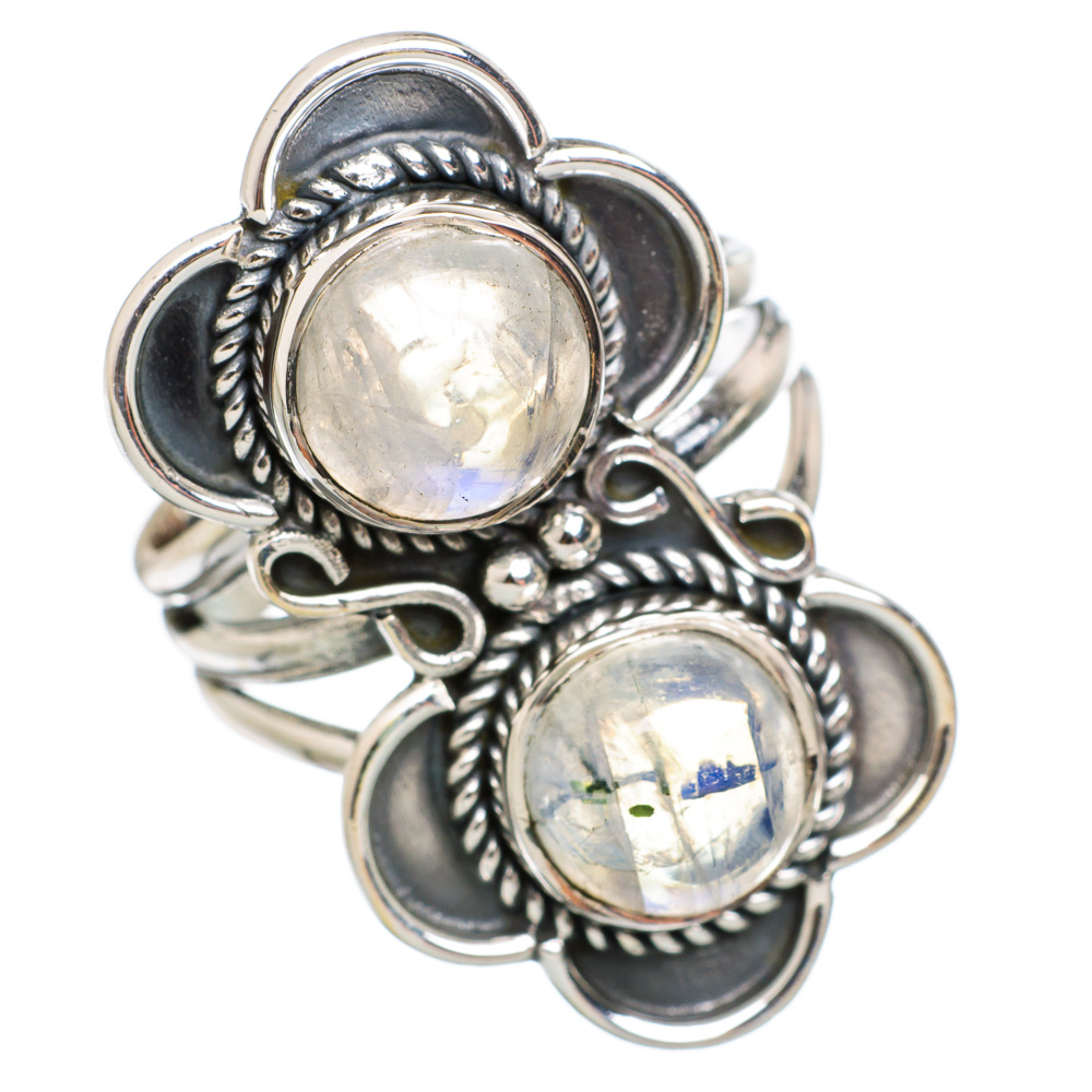 Ana Silver Co Rainbow Moonstone 925 Sterling Silver Ring Size 7.5 - Handmade Fashion Gemstone Jewelry RING847712