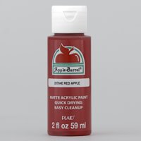 Apple Barrel 20784EX Acrylic Craft Paint, Matte Finish, Red Apple, 2 fl oz