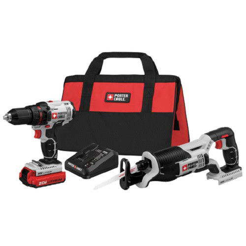 Porter-Cable PCCK603L2 20V MAX Cordless Lithium-Ion Drill Driver and Reciprocating Saw Combo Kit by Black & Decker