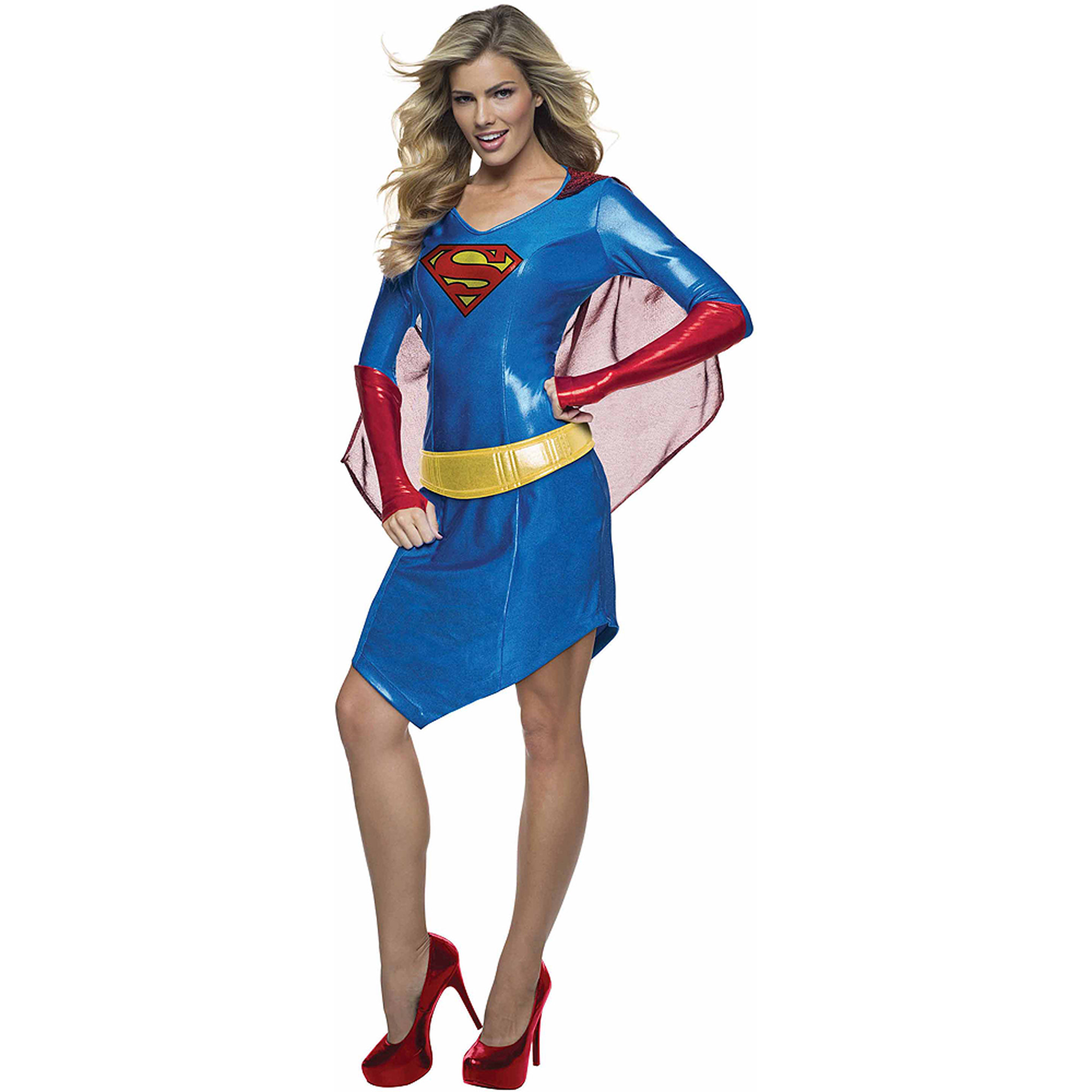 sc 1 st  Walmart & Supergirl Dress Womenu0027s Adult Halloween Costume - Walmart.com