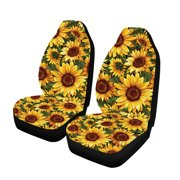1/2/7Pcs Car Seat Covers Set Sunflower Printing Four Seasons General Front OR Reat Seat Car Seat Covers Suitable for Most Seats