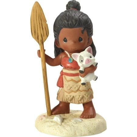 Momma Pig (Precious Moments Disney Showcase 172057 Find Your Way - Moana Holding Plush Pua Pig)