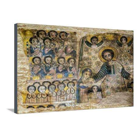 Ethiopia, Abraha Atsbeha, Tigray Region  the Interior of the 10th Century  Church of Abraha Atsbeha Stretched Canvas Print Wall Art By Nigel Pavitt