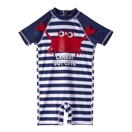 One Piece Rashguard Swimsuit (Baby Boys)