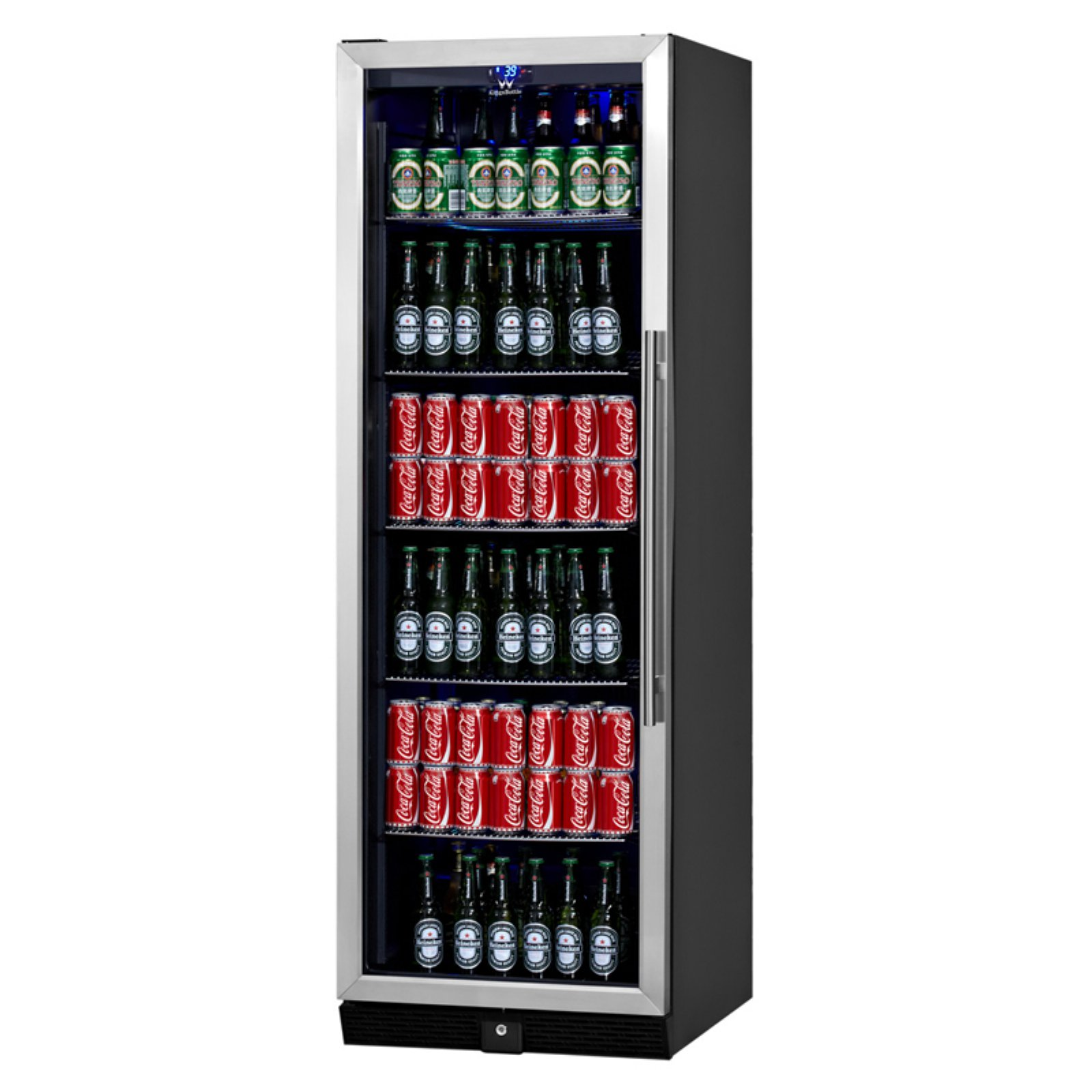 Kingsbottle 450-Can Beverage Fridge, Silver