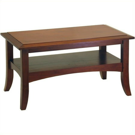 Round Walnut Activity Table - Winsome Wood Craftsman Coffee Table, Walnut Finish