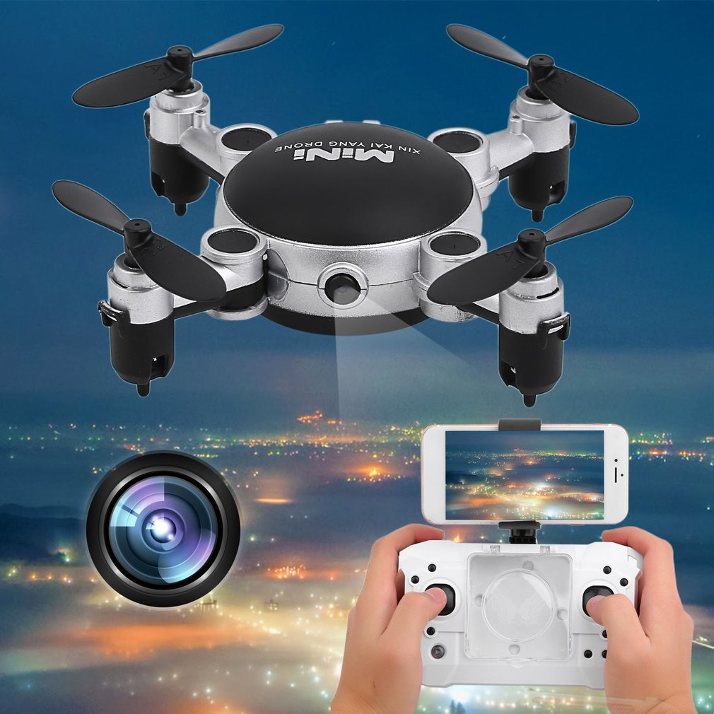 Quad copter With Camera Mini Wi fi Camera Dr one Durable Photography Video Device 4 Axles RC Quad copter With Camera Foldable Dr one US Plug