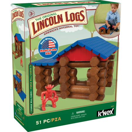 LINCOLN LOGS - Forge Mill Cabin - 51 Pieces - Ages 3 - Preschool Educational Toy