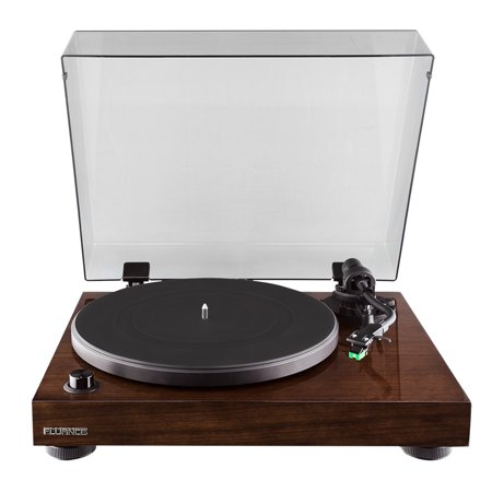 Fluance RT81 Elite High Fidelity Vinyl Turntable Record Player with Audio Technica AT95E Cartridge, Belt Drive, Built-in Preamp, Adjustable Counterweight, Solid Wood Plinth - Walnut - image 1 de 11