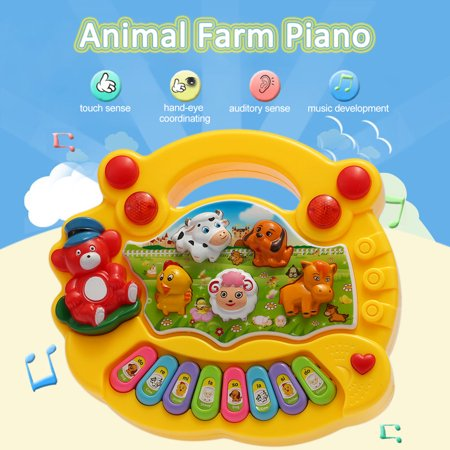 Coolplay Baby Kids Toddler Musical Educational Animal Farm Piano Electronic Keyboard Music Development Kids Toy (Baby Toys With Animal Music)