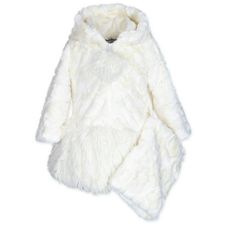 cc47fb0d7 Widgeon - Widgeon Little Girls' Hooded Big Bow Coat, Cream, Size: 10 -  Walmart.com