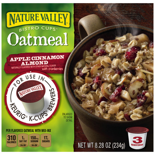 Nature Valley Bistro Cups Apple Cinnamon Almond Oatmeal, 3 ct, 8.28 oz