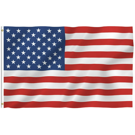 ANLEY [Fly Breeze] American US Flag - Vivid Color and UV Fade Resistant - Canvas Header and Brass Grommets - USA Banner Flags 3x5; 4x6 Feet