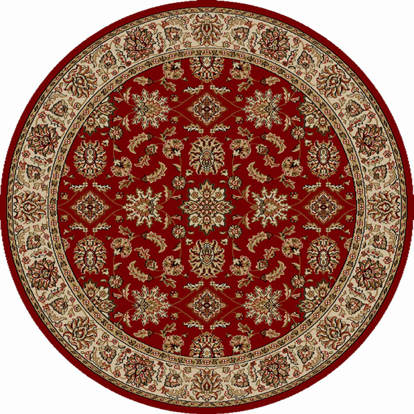 Radici Usa Como Area Rugs - 1592 Traditional Oriental Red Italian Bordered European Floral Rug