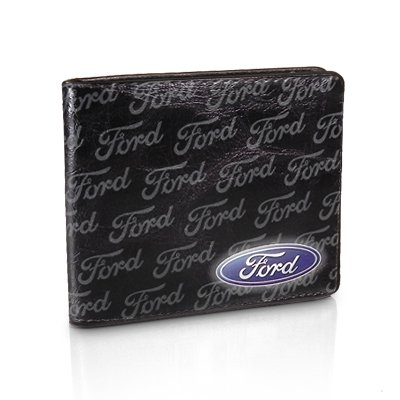 Ford Text Black Leather Wallet