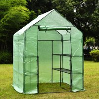 "Kadell Portable 3-Tier 8-Shelf Walk-In Greenhouse, Indoor Outdoor Gardening Greenhouse 57""x57""x77"""