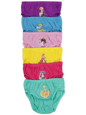 ToBeInStyle Girls Pack of 6 Princess Fruit Graphic Cotton Panties