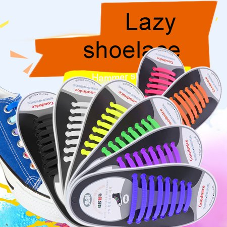 New Design Convenient No Tie Shoelaces 16Pcs Set Silicone Elastic Shoe Lace