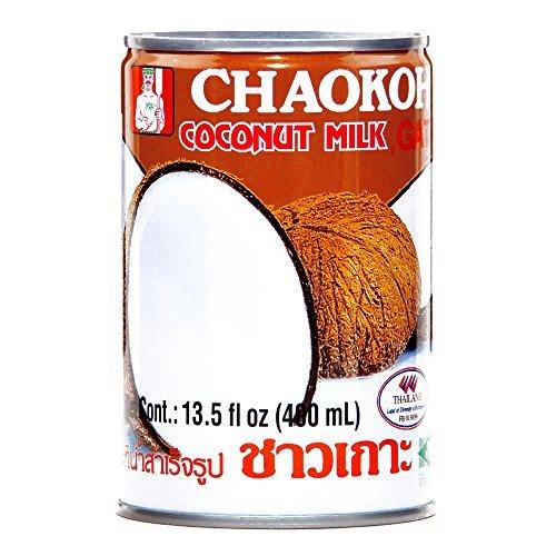 Chaokoh Coconut Milk 13.5 oz each (5 Items Per Order) by