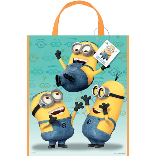 Large Plastic Despicable Me Goodie Bag, 13 x 11 in, 1ct