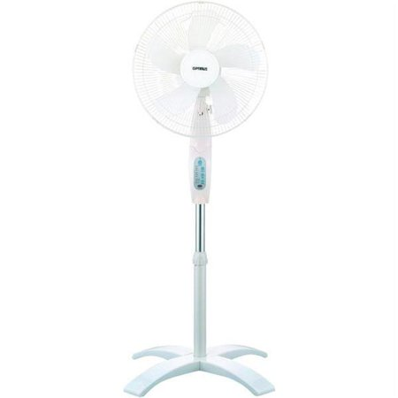 Optimus F-1760 16 in  Wave Oscillating Stand Fan - With Remote