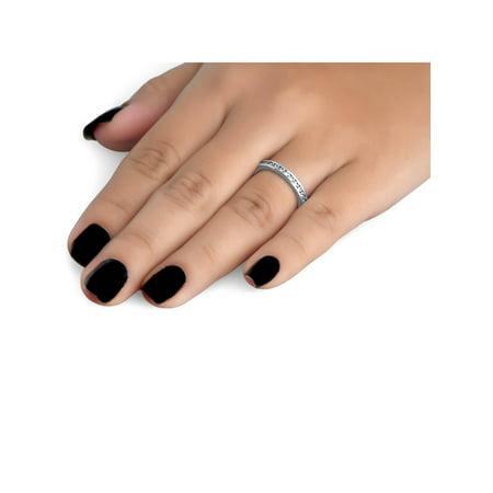 1ct Diamond Wedding Eternity Stackable 14K Ring New - image 1 de 2