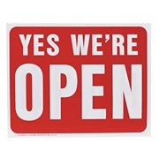 Hy-Ko English 15 in. H x 19 in. W Plastic Sign Yes We're Open / Sorry We're Closed for $<!---->