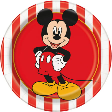 Mickey Mouse Paper Dessert Plates, 7in, 24ct](Mickey Mouse Plate Set)