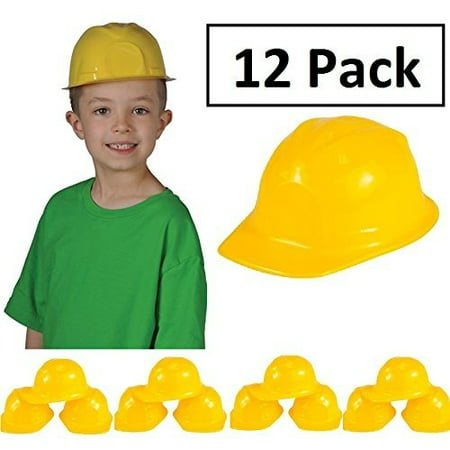 Construction Hat Toy -12 Pack Yellow, For Kids, Boys, Girls, Halloween, Themed Events, Props, Costume, & Dress Up – Kidsco