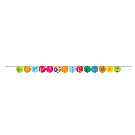 Group  French Bull Birthday Dots Party Banner, Pack of 6 - image 1 of 1