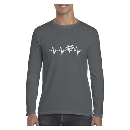 Bicycle Heartbeat Mens Long Sleeve Shirts