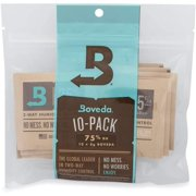 Boveda for Cigars/Tobacco | 75% RH 2-Way Humidity Control | Size 8 Protects Up to 5 Cigars | Patented Technology for Cigar Humidors | 10-Count Resealable Bag