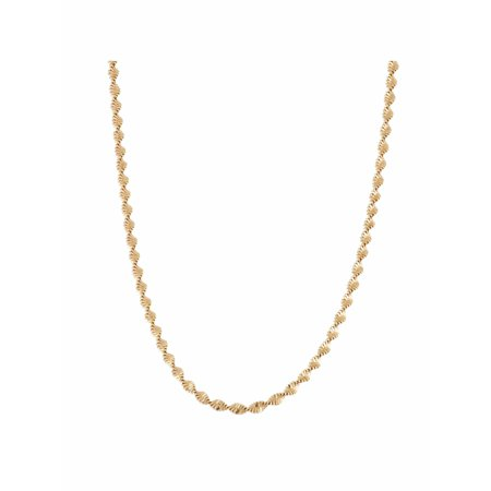 18kt Gold over Sterling Silver Twisted Herringbone Chain Necklace, 18