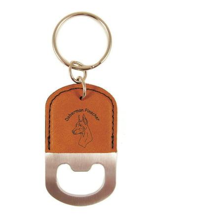 Doberman Pinscher Head Bottle Opener Keychain K3075 (Doberman Pinscher Head)