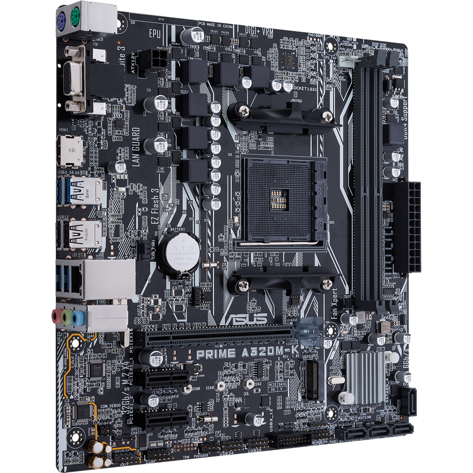 ASUS Prime A320M-K AMD Ryzen AM4 DDR4 HDMI VGA M.2 USB 3.1 Micro-ATX A320 Motherboard